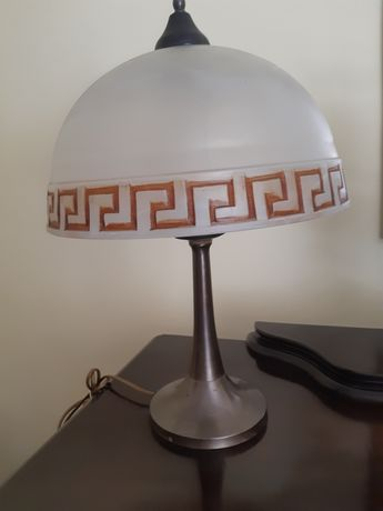 Lampa mosiężna z kloszem