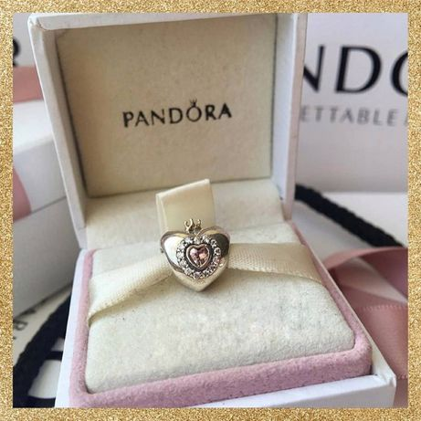 Шарм Царевна Лягушка Сердце принцессы (с короной) Pandora