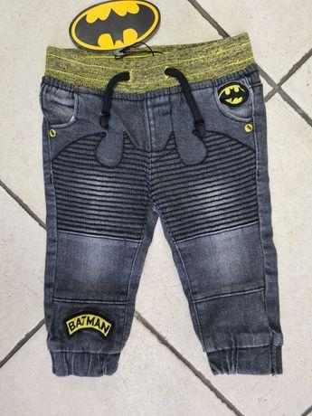 BATMAN spodnie jeansowe roz. 74 cm