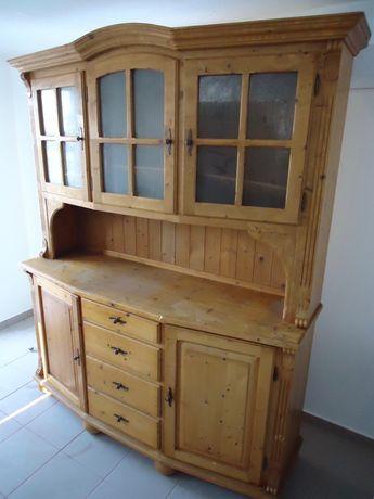 Kredens drewniany szafka witryna