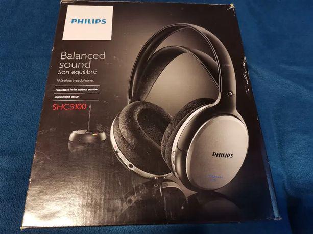 PHILIPS SHC5100 + KONWERTER Słuchawki nauszne bezprzewodowe