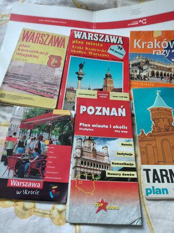 Warszawa Krakow Poznan Tarnow mapy