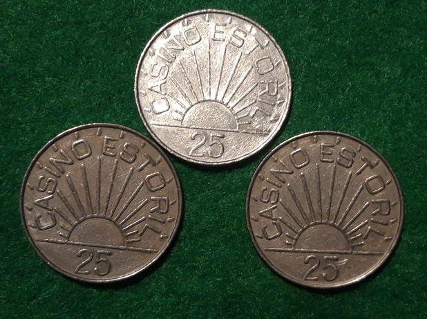 Fichas casino estoril moedas Coins