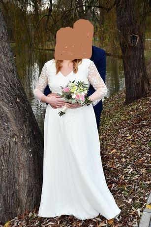suknia ślubna duży rozmiar 46/48 + buty