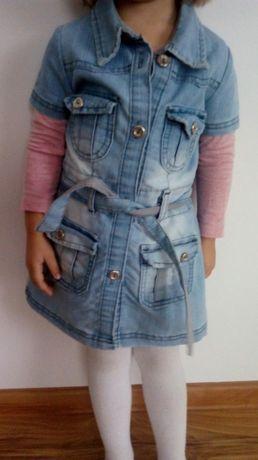 Dżinsowa sukienka roz 86-98