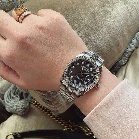 Женские часы Rolex Date Just, металлические часы Ролекс серебристые