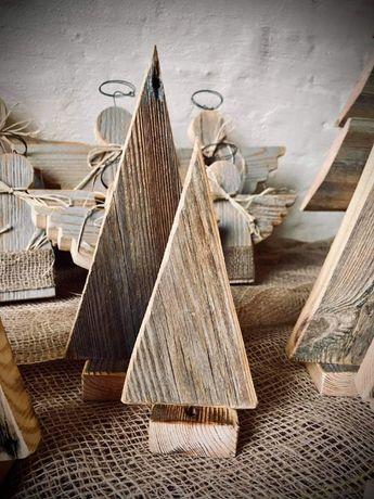 Świąteczne choinki Choinka świąteczna Ozdoby świąteczne 2 szt.