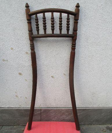 Stare Gięte Oparcie Krzesła KOŁKOWANE