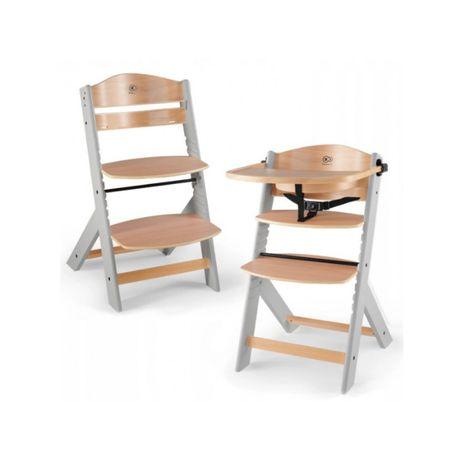 Krzesełko do karmienia KINDERKRAFT ENOCK 3w1 drewno szare nogi