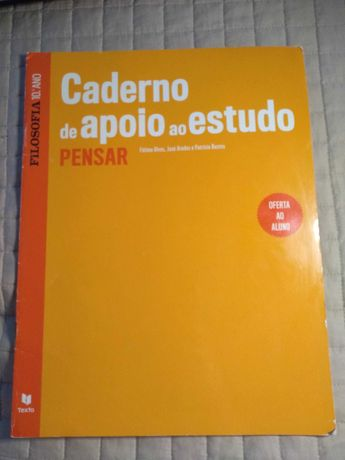Caderno de apoio ao estudante - PENSAR 10ºAno FILOSOFIA