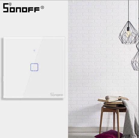 Interruptor de Parede Táctil Inteligente Wi-Fi – Sonoff T0EU1C-TX