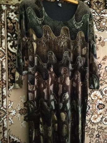 Платье вечернее велюр