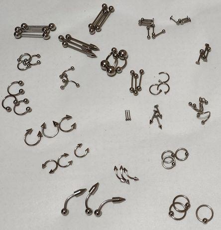 Все украшения для пирсинга! Кольца, циркуляры, штанги для септум и др.