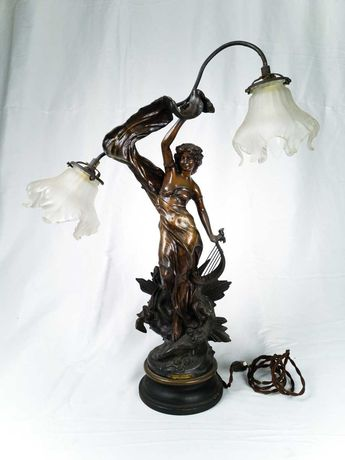 Candeeiro de Arte Nova Causse -  escultura da Alvorada