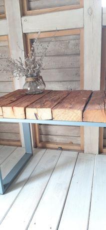 Stół stolik kawowy piekne niepowtarzalne drewno hand made.