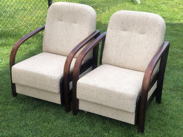 Fotele wypoczynkowe zestaw do salonu drewniane