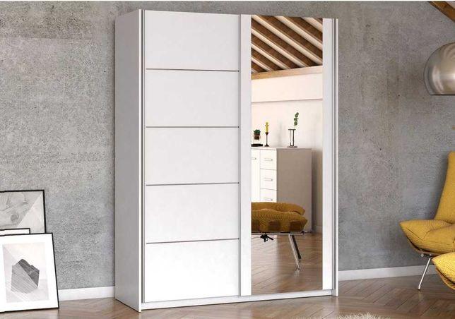 Piękna szafa przesuwna LISA 150 cm + szprosy PROMOCJA