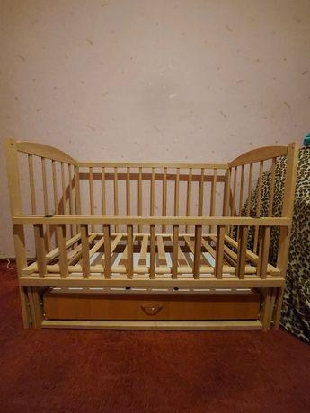 """Кроватка-маятник с ящиком ТМ """"Baby"""""""