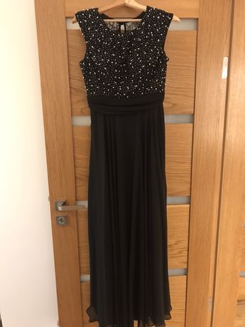 Suknia maxi damska czarna rozmiar 40