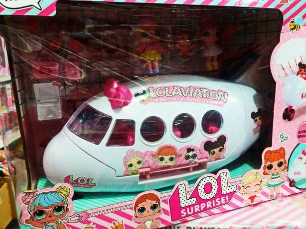 Большой Самолет LOL AirLine с аксессуарами 3 куклы Лол