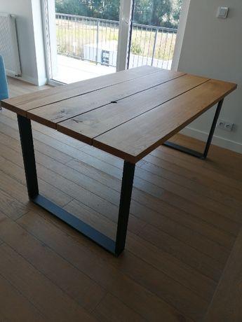 Stół dębowy 165x92x75cm loft industrial rustykalny - ręcznie wykonany