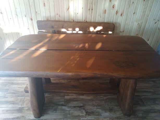 Продам Дубовый стол и две скамейки!