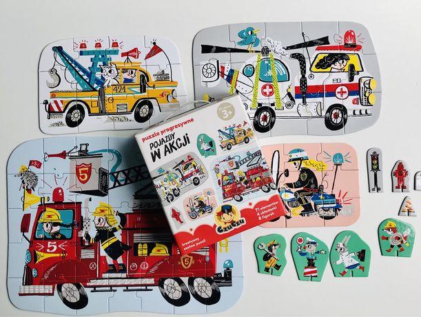 Puzzle Czuczu Pojazdy w akcji