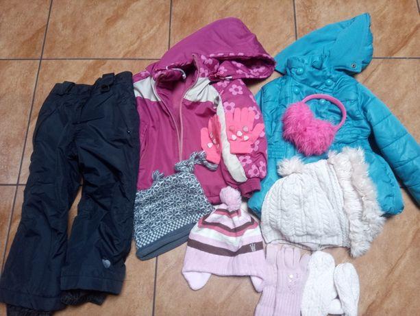Zestaw zimowy dla dziewczynki rozm 98/104 buty śniegowce rozm 24