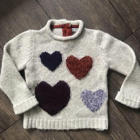 Детский теплый шенстяной свитер , zara, hm,next