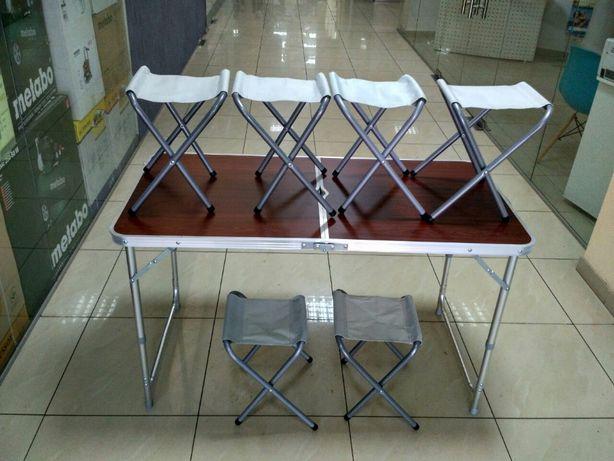 Стол складной чемодан + 6 СТУЛЬЕВ для пикника, рыбалки, отдыха