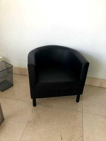 Poltronas Pretas Ikea (SOLSTA OLARP)