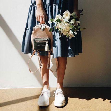 Дерби броги туфли AMB женские 24,5 см лакированые лаковые сероголубые