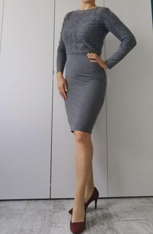 Simple Sukienka popiel 36