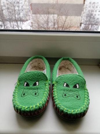 Тёплые тапочки Крокодильчики