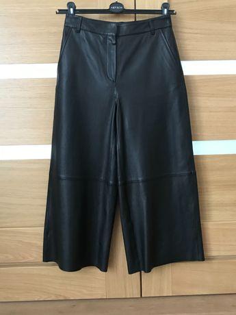 Massimo Dutti spodnie skóra czarne XS S Nowe