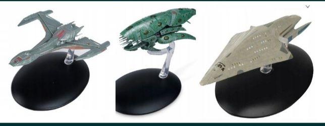 Zestaw statków star trek raptor,drone,dauntless
