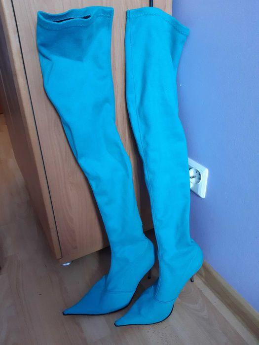 Kozaki długie błękitne Wolin - image 1