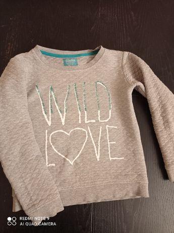 śliczna szara pikowana bluza z cekinami dla dziewczynki 140/146