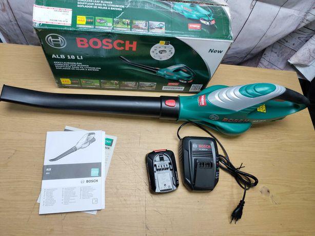 Bosch ALB 18 LI садовая воздуходувка аккумуляторная + АКБ + ЗУ
