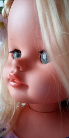 Okazja ! Bardzo duża stara lalka 75 cm. Sygnowana ,dla kolekcjonera.