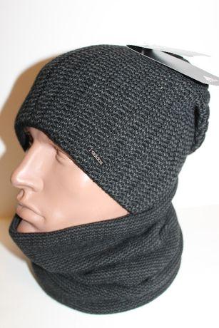 Комплект шапка и баф на флисе
