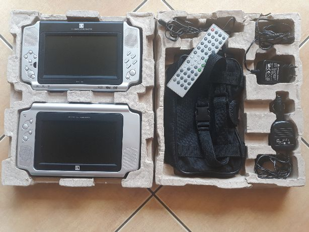 Przenośny odtwarzacz dvd, dwa ekrany LCD, USB