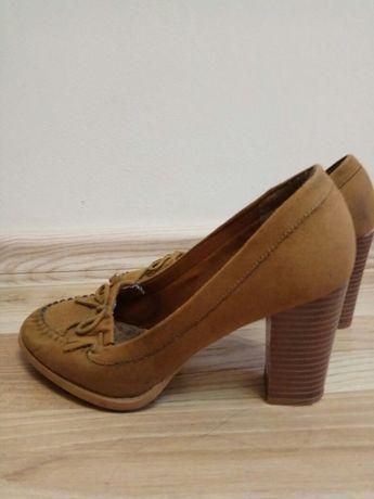 Туфли на каблуку, замшевые. Фирма New Look. Размер 37