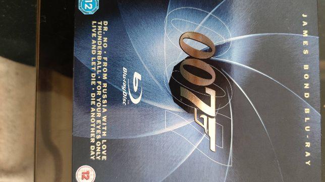 Kolekcja 6 filmów Jamesa Bonda 007 na Blu-ray.