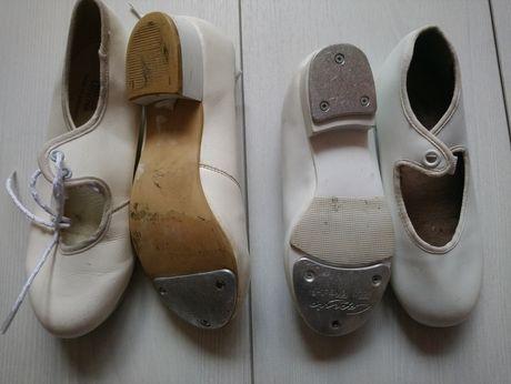 Дитячі білі туфлі степовки для танців 27 і 31 розмір