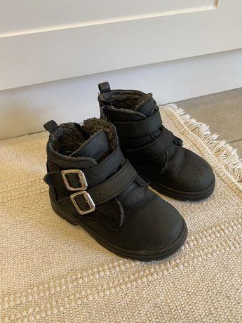 Ботинки Zara утеплені натуральна шкіра 22 розмір