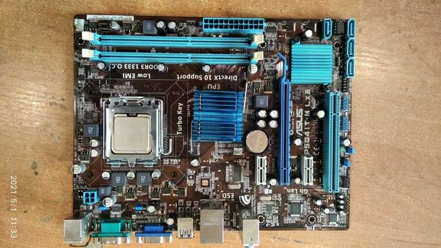 Продам материнскую плату s775 Asus P5G41T-M LX3 DDR3 , видео