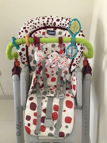 Cadeira de Refeição Polly Chicco + Arco de brincar