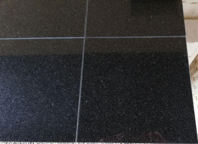 Płytki Granitowe Czarne Absolut Black Nero assoluto 30.5x30.5x1