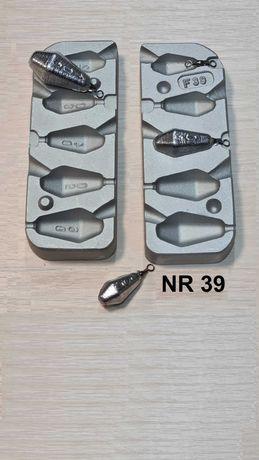 Forma wędkarska do odlewania - ciężarki karpiowe 20/30/40/50/60 gr.